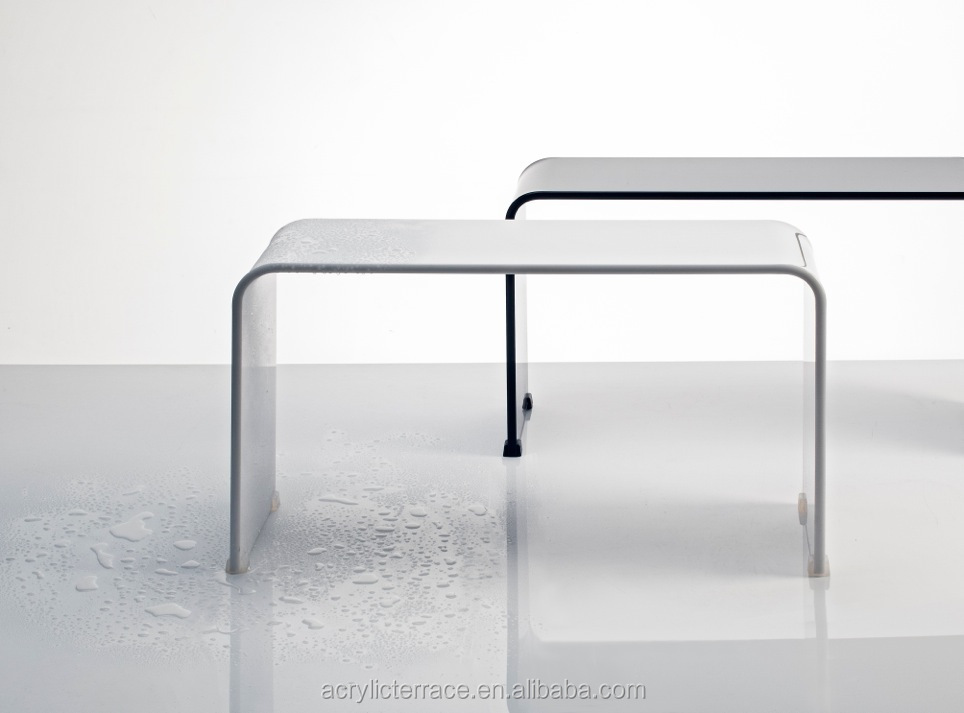 Beautiful substantial and elegant acrylic shower bench for Where to buy lucite