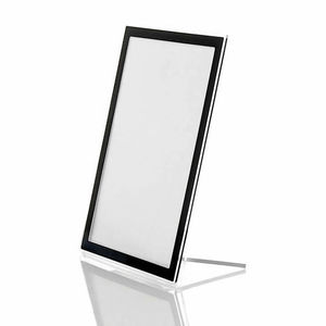 economic clear Perspex photo frame holders with printed black edge