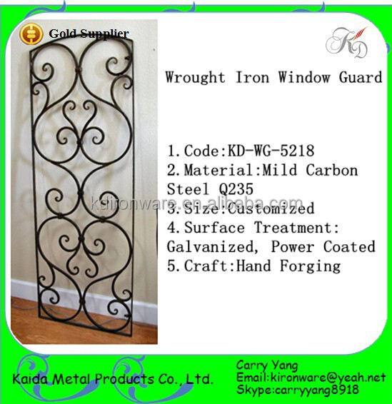 Top-Selling Decorative Wrought Iron Window Guard Design