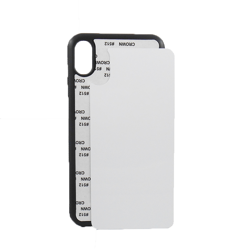 New Blank 2D Rubber TPU sublimation phone case for iPhone Xs <strong>Max</strong> with metal insert