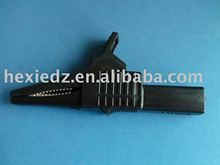 black alligator clip
