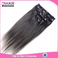 2016 new arrival natural black 12 inch clip in hair extens extensions