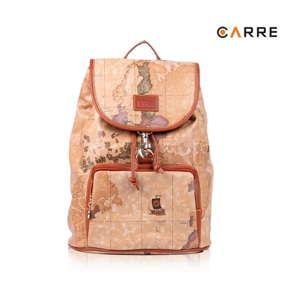 Unique Style Map Printing Travelling Retro Backpack with Hook Closure