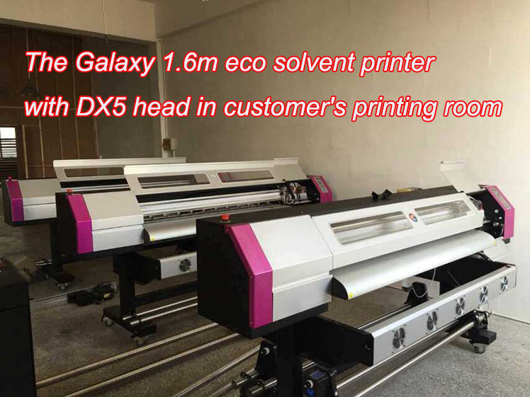 Galaxy 4 color vinyl sticker printer with DX5 head