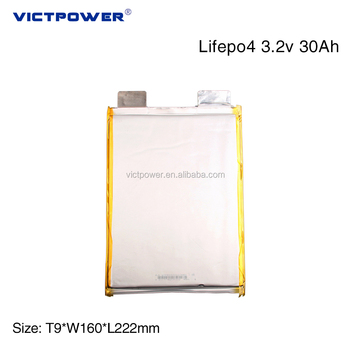 Lifepo4 Pouch battery cell 30AH 3.2V LEP90160222 Rechargeable Electric Car Battery