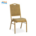 wholesale stacking gold wedding hotel banquet chair with jacquard fabric