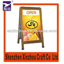 Waterproof Wooden Outdoor Blackboard with Frame