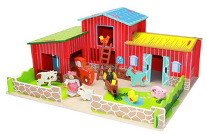 UMU#1059 Happy Farm Wooden House Toys Princess play toy