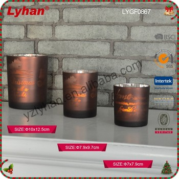 Matt glass candle holder tea light candle holder for Christmas home decoration