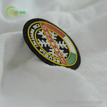 Factory Made Custom Felt Base Silicon Logo Clothing Patch Garment Label