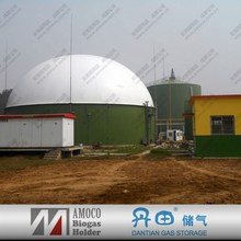 2015 Newest Anaerobic Digester, Enamel Steel Tank for Biogas Plant With Membrane Cover