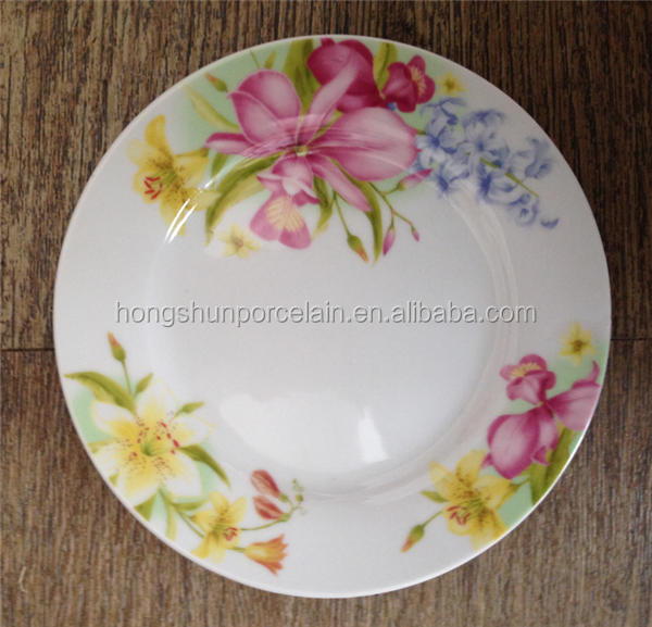 super fine porcelain plate dishes , gift porcelain plate / customized ceramic colour snack dish set