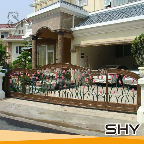 Front House Elegant Wrought Iron Garden Gate