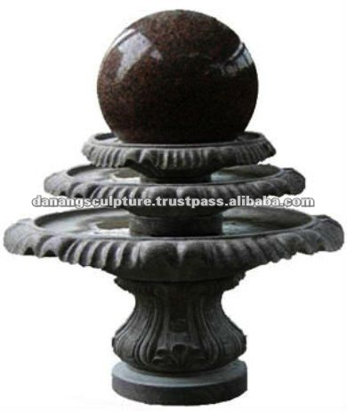 Stone fountain ball rolling DSF-DP031
