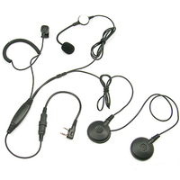 [M-E1164-K]Motorcycle helmet Racing noise canceling headset with microphone for Baofeng Kenwood Wouxun Puxing