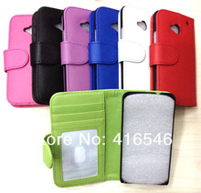 New Leather Case Cover Pouch for HTC One M7 Wallet Book Case with ID Card Holder