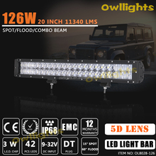 20inch wholesale led light bar led car light bar 4x4 led lights 126w led light bar for trucks,atvs,auto parts