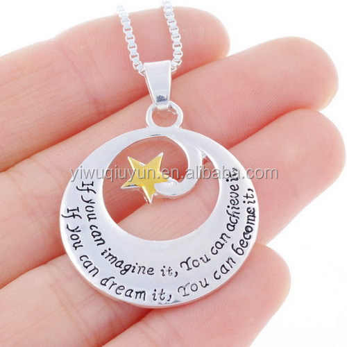 Live Love Dream Engraved Mom Dad Necklace
