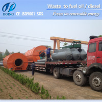 Pollution-Free Full Automatic Portable Tyre Pyrolysis oil price