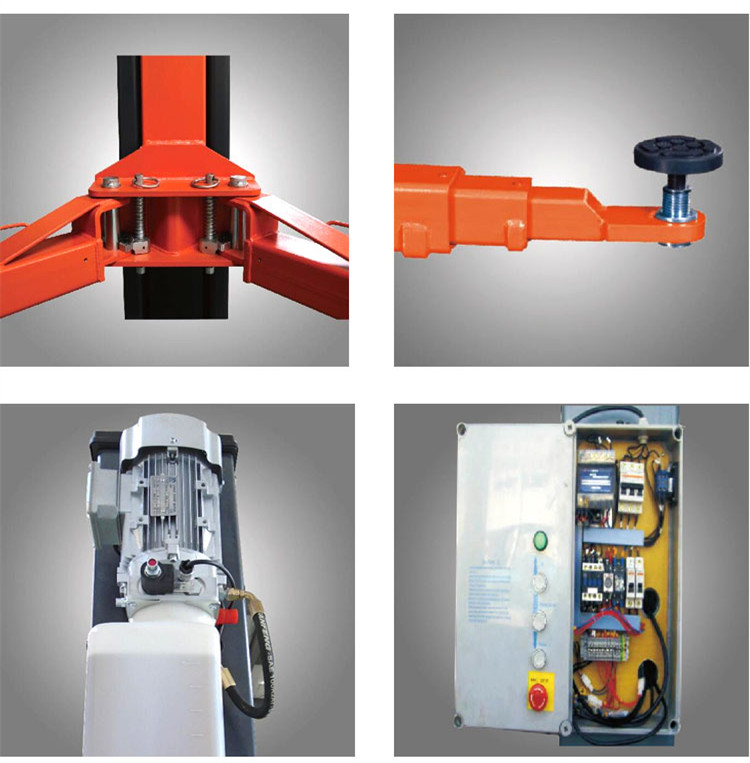 High quality dual-cylinder Hydraulic 2 Post Car Lift 4 ton car lifting machine