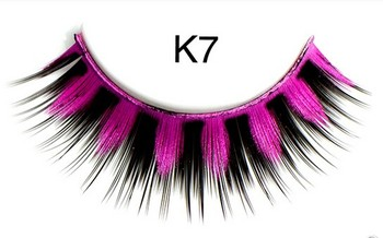 New design fashion false eyelashes with diamond crystal colorful eyelash