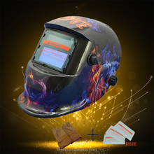 Fire Flame Stepless Darkness ANSI Auto Darkening Welding Helmet With Sensitive Button