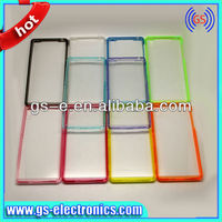 2014 new product PC+TPU acrylic glossy transparent cell phone case for Sony Z2 high crystal clear cover case for sony Z2