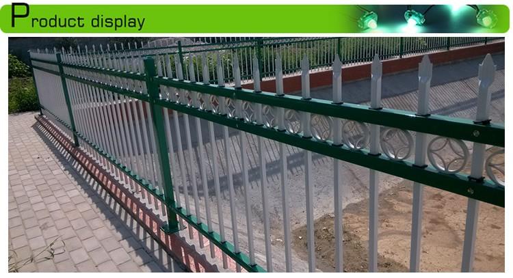 madrid style iron wrought steel fence panel