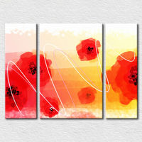 Beautiful wall pictures flower canvas painting 3 panel