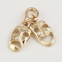 Funny style gold/rhodium plated face mask Interesting expressions charms jewelry