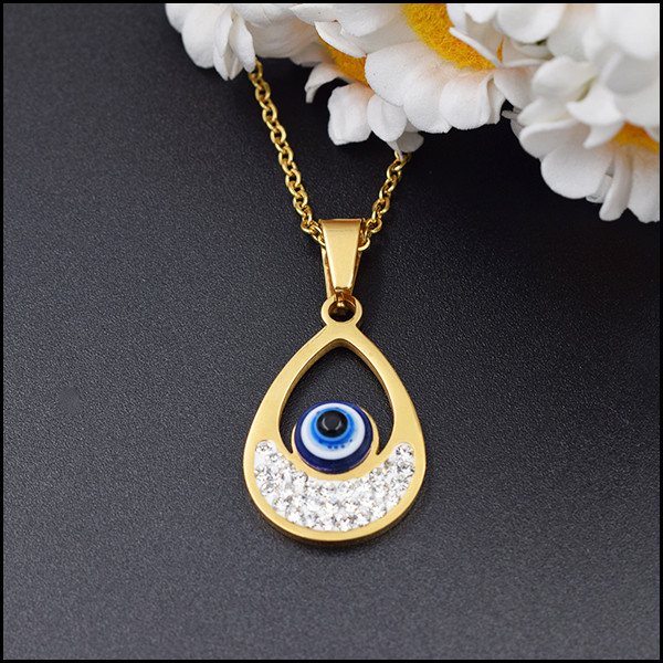 Guangzhou cheap wholesale evil eye jewelry, fashion gold plated 18k jewelry necklace pendant earrings Turkey evil eye jewelry se