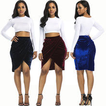 latest skirt women design pictures sexy velvet short skirt