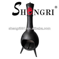 Shengri metal chiminea with stand