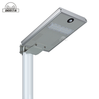 15W High luminance outdoor aluminum motion sensor solar led street light price