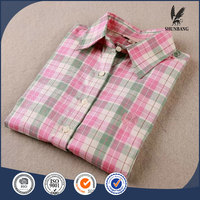 Fashion dress plaid shirts used clothing women uniform designs for office ladies