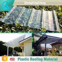 Building materials pc solar roof sheet pc corrugated transparent roofing sheet for new house