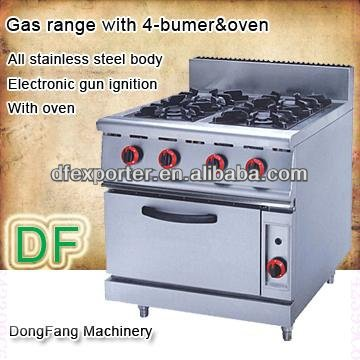 oven kitchen gas range with 4-bumer with oven
