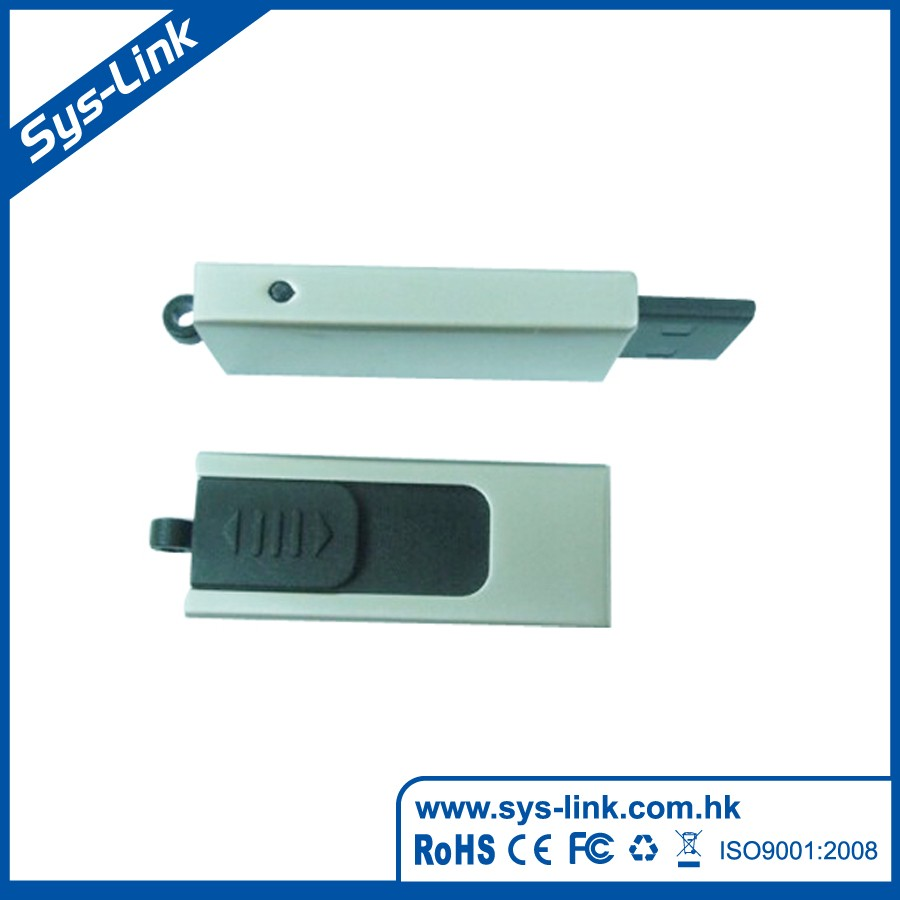 Retractable plug with metal case USB Flash Drive