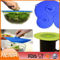 RENJIA flower shape silicone bowl lid,microwave oven bowl lid,silicone bowl cover lid