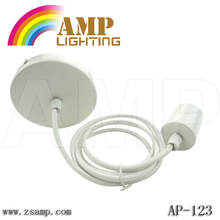 Hot sale light E27 white silicon chandelier light plastic celling rose with braided wire AP-123