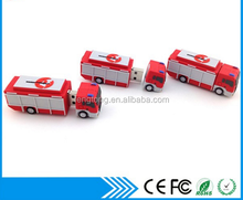 Fire Fighter Truck Shaped USB Pendrive 3D PVC Custom External USB