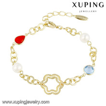 74497 fashion jewelry accessory pearl 14k gold stone brighton friendship bracelet
