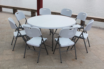 5FT garden round folding table (HDPE, outdoor,banquet,camping)