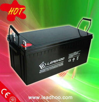 12V 200Ah Rechargeable Solar Deep cycle gel Battery