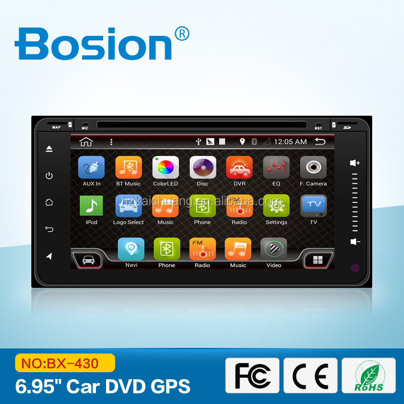 Bosion nearly 7inch high-end toyota yaris wish touch 2 go android gps navigation wifi gsm bluetooth multimedia player