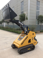 mini rubber track skid steer loader
