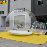 Lodge Balloon Outdoor House Camping transparent inflatable igloo tent/inflatable bubble tent for rent