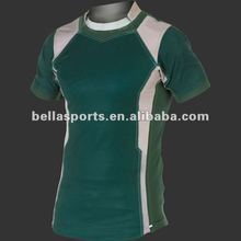 2012 Men's team Rugby shirts/athletic fit short sleeved rugby shirt