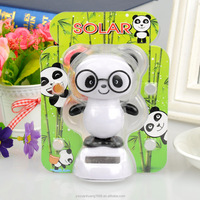 panda toy solar dancing toy swing solar panda magic cute flip flap solar doll car decoration factory wholesale