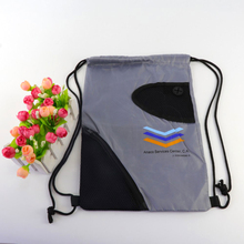 Promotion Imprint Customized Logo Eco Friendly Shopping Bag Fashion Handbags Nylon Drawstring Sling Bag